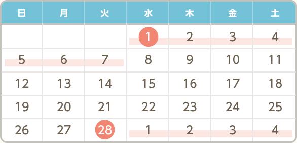 生理予定日計算